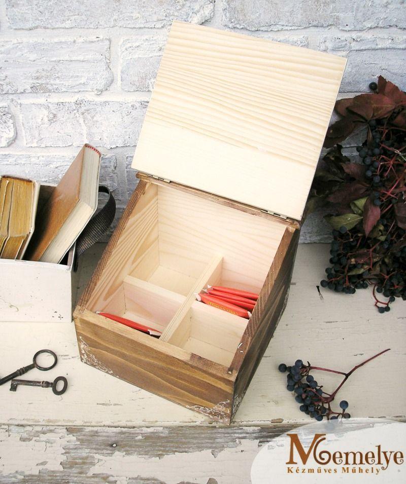 Szőlő fa teás doboz