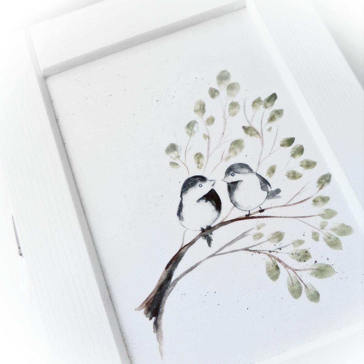 Kulcstartó szekrény madárkákkal